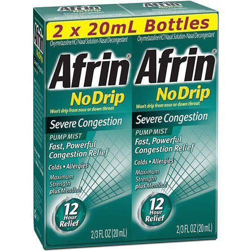 Afrin No Drip Severe Congestion - 5Pack (2/20ml Each) Hk#$kjD by Afrin