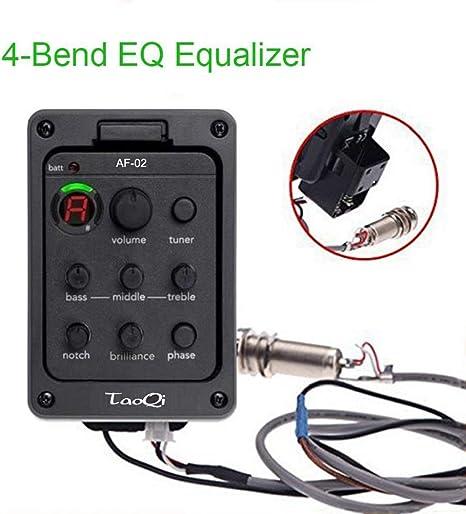 Ecualizador piezoeléctrico de 4 bandas EQ Sistema de ...