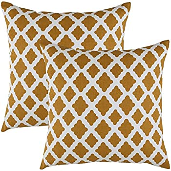 amazoncom treewool 2 pack throw pillow covers lattice