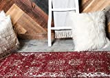 Unique Loom Sofia Collection Burgundy 2 x 7 Runner