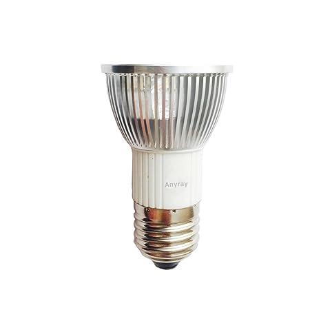 Anyray A1875Y HR16 120V 25W E27//E26 MR-16 25 Watt JDR C Halogen Bulb Lamp HR 16