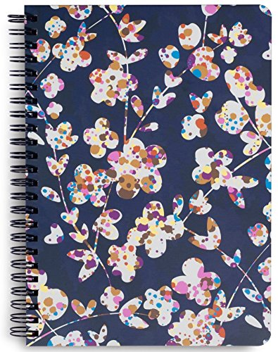 (Vera Bradley Mini Spiral Notebook with Pocket and 160 Lined Pages, Cut Vines)