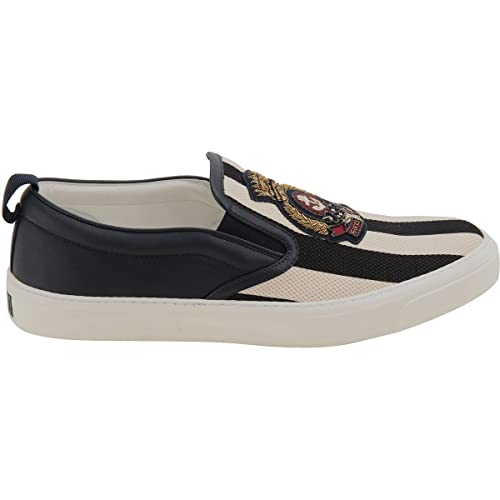 Gucci - Zapatillas para hombre blanco/negro IT - Marke Größe, color, talla 41 IT - Marke Größe 7: Amazon.es: Zapatos y complementos