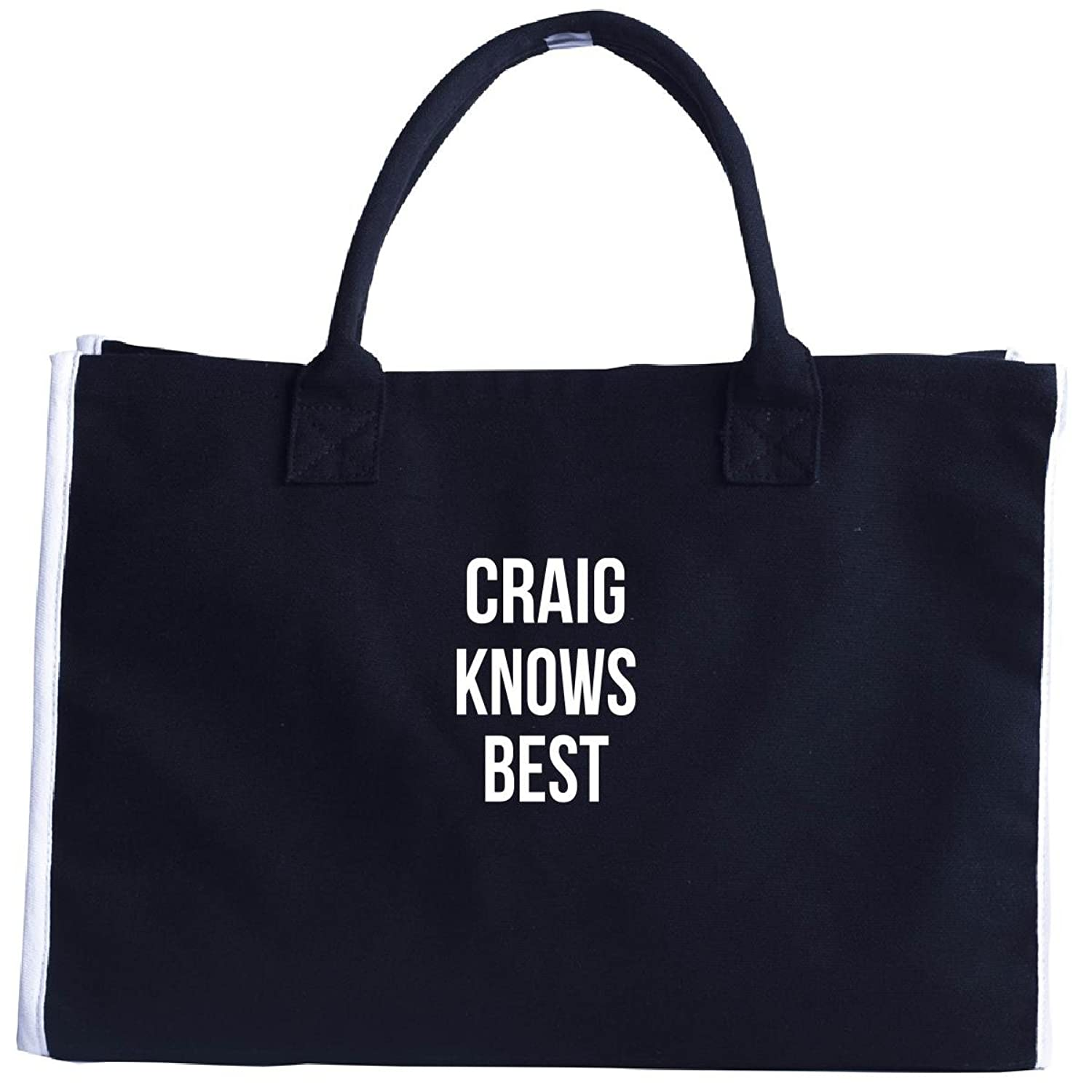 Craig Knows Best First Name Gift - Tote Bag