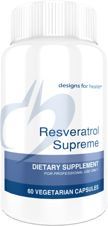 Designs for Health - Resveratrol Supreme - 200mg Trans Resveratrol + Quercetin, 60 Capsules