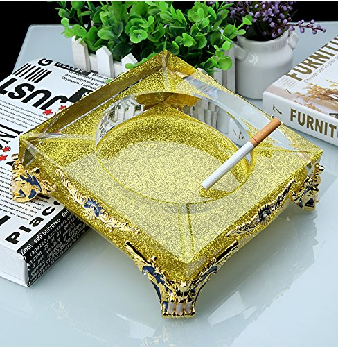 OLQMY European fashion office crystal ashtray personality Home Furnishing hotel new living room decoration gift gift,b by OLQMY
