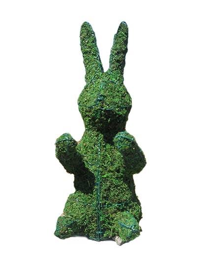 Amazon.com : Bunny 28 inches high w/ Moss Topiary Frame, Handmade ...
