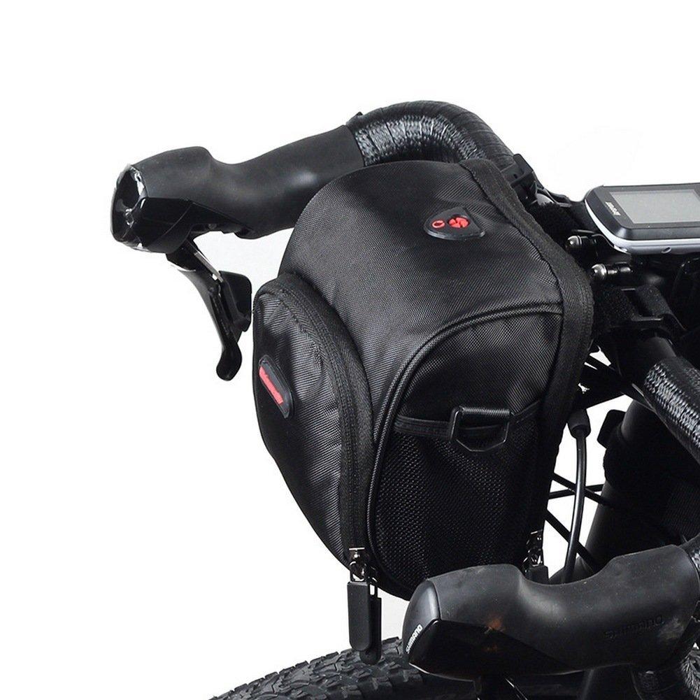 rhinowalk bicicleta bolsa de manillar impermeable nailon poliéster multifuncional alforja frontal marco unidades