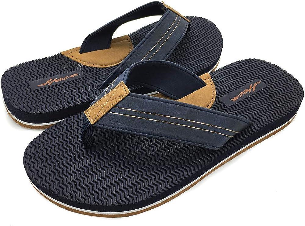 HEVA Herren Zehentrenner Classic Plush Sandalen Sommer Flip Flops