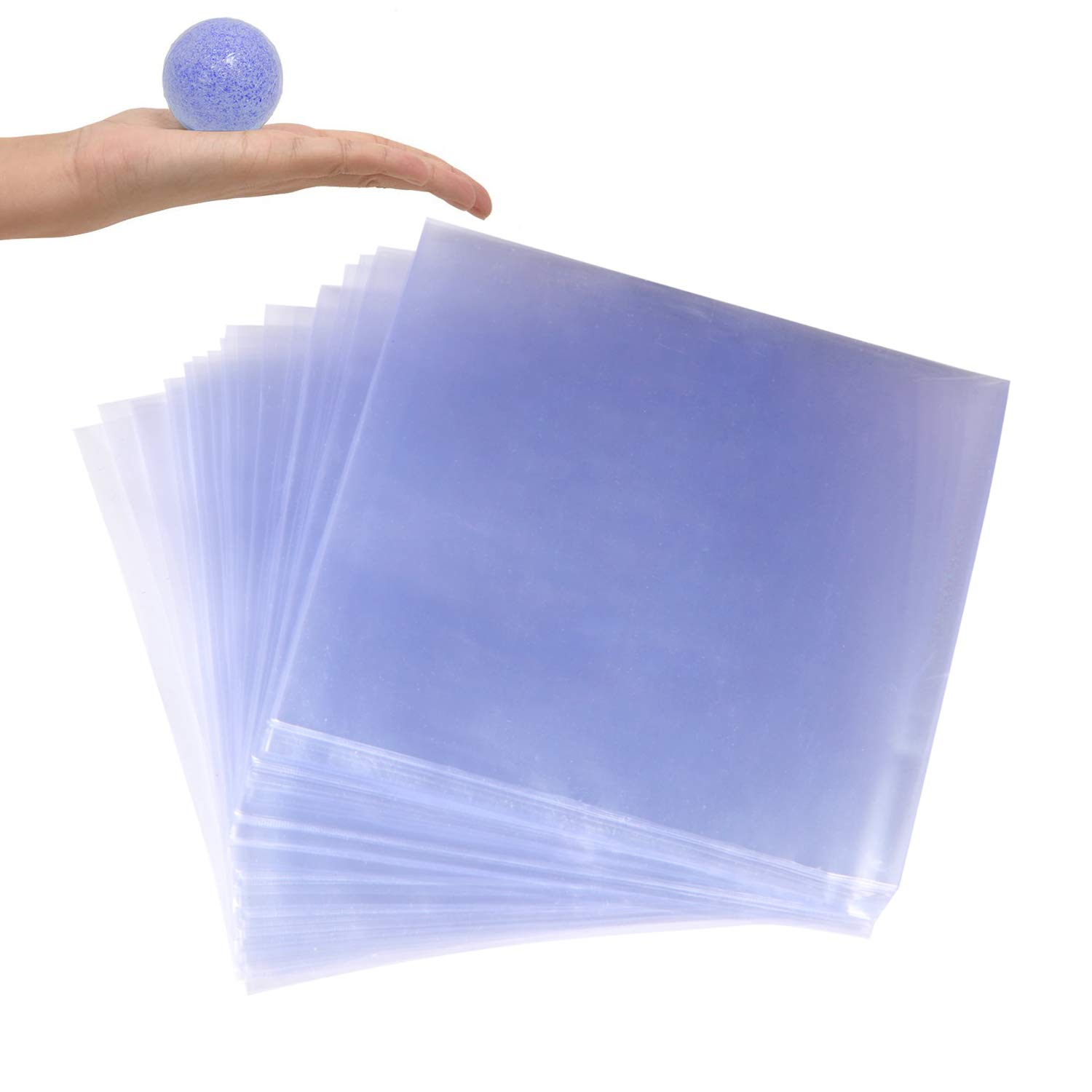 HEALLILY Shrink Wrap Bags Clear Heat Shrink Film Wrap Bags Great for Soaps Bath Bombs Tins Crafts Small Gifts 100PCS Size 16x30cm