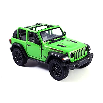 HCK Jeep Wrangler Rubicon 4x4 Convertible Off Road Exploration Diecast Model Toy Car Green: Toys & Games