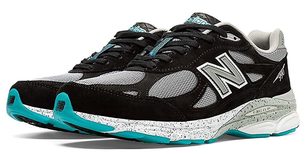 e3465fbbdc8ea Amazon.com | New Balance M990 Version 3 Men's Running Shoe, Size: 9 Width:  D Color: Black/Light Grey/Blue Atoll | Road Running