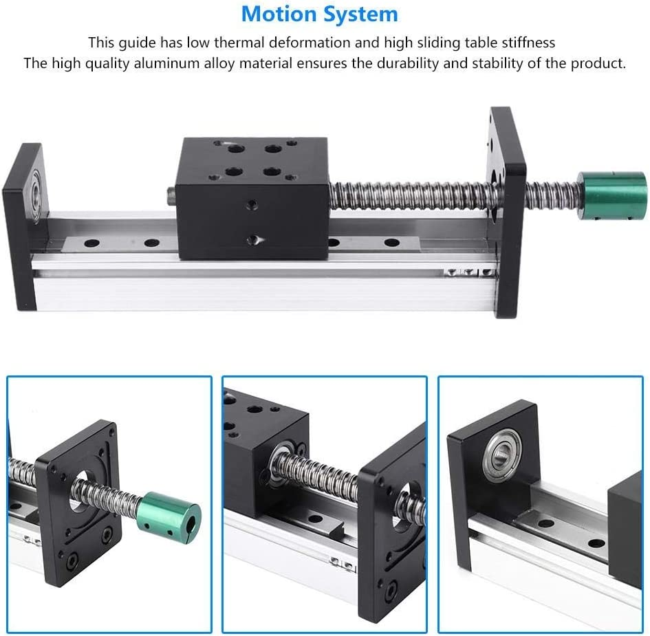 Aluminum Alloy Linear Guide Rail Slide Ball Screw Motion Table 500mm Effective Stroke,for Combined Machine Tools GIRL INSTITUTE XG-WU Linear Rail Linear Guide Rail 500mm 1610 Ball Screw Tool