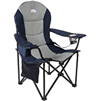 $54 » Coastrail Outdoor Camping Chair with Lumbar Back Support, Oversized Padded Lawn Chair Folding…