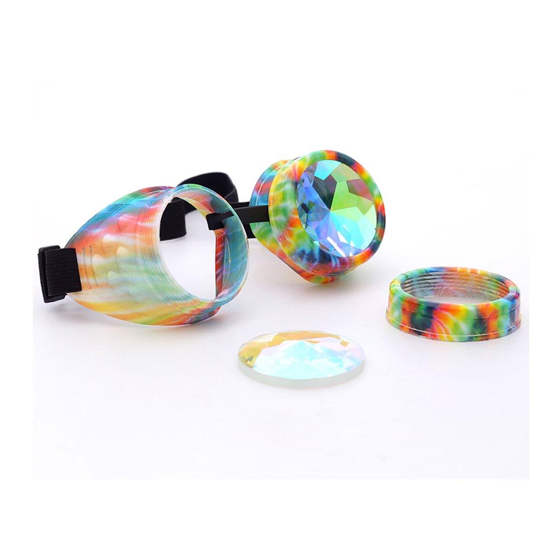SLTY Festival Kaleidoscope Rainbow Glasses Prism Rave Cosplay Sunglasses Goggles