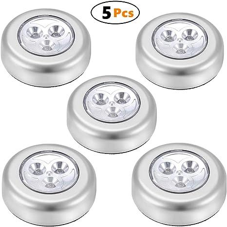 Tap Touch Lamp Lights 5Pcs LED Battery Powered Wireless Nightlight Stick Light P