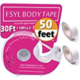 Fashion Boob Body TapeClear Fabric Strong Double Sided Tape for Clothes/Dress 50 Ft.
