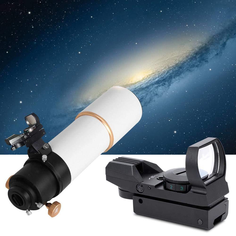 Bewinner Telescopio Green Red Dot Reticle Finderscope Reflection Sight Sight Compatible con Montaje de 20 mm y Ofrece un Mecanismo de colimaci/ón Estable para el telescopio