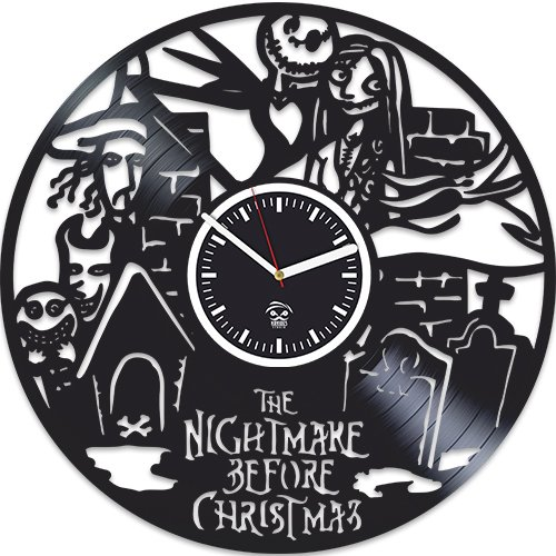 Nightmare Before Christmas, Sally Song Clock, Vinyl Wall Clock, Best Gift For Any Occasion, Vinyl Record Clock, Kovides, Silent, Wall Clock Vintage, Wall Clock Modern, Birthday Gift For Kids