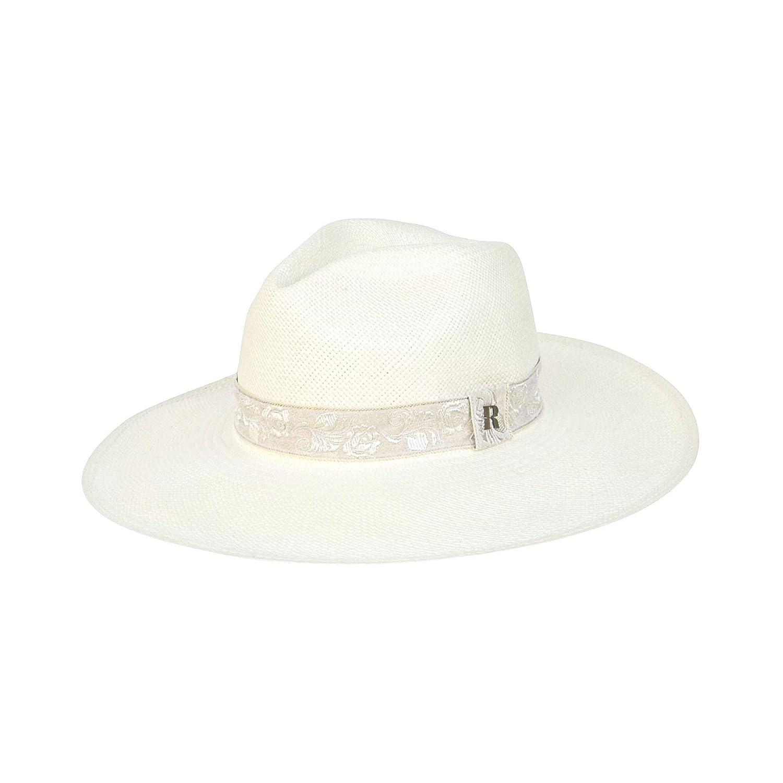 RACEU ATELIER Sombrero Panamá Ala Ancha Mujer Sara - Sombrero de Paja Estilo Fedora - Sombreros Panamá Original - Tejido a Mano: Amazon.es: Handmade