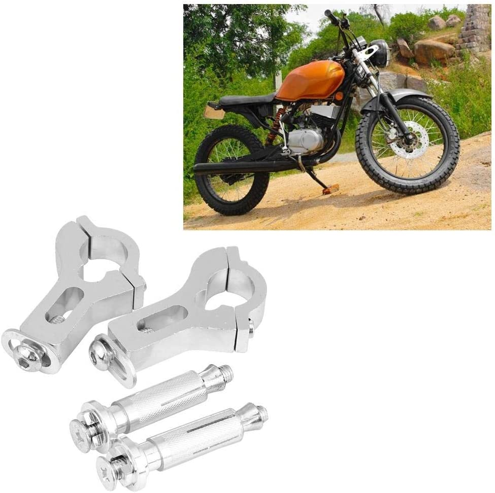 Acouto Motorcycle Hand Guard Handguards Fat Clamp Mounting Kit For Most of Motorcycle Motocross with 22mm Modified Handlebar