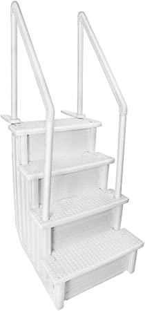 Aqua Select Above Ground Anti-Slip Pool Steps to Deck | Safety Swimming  Pool Ladder | Designed for Above Ground Swimming Pools | Holds Up to 400 ...