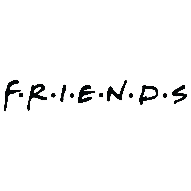 Amazon com friends logo vinyl decal sticker 8x1 5 inch gloss black home kitchen
