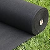 Landscape fabric - weed fabric - weed barrier landscape fabric - weed control fabric - garden ground cover - erosion control mulch mat - 3 X 300 black