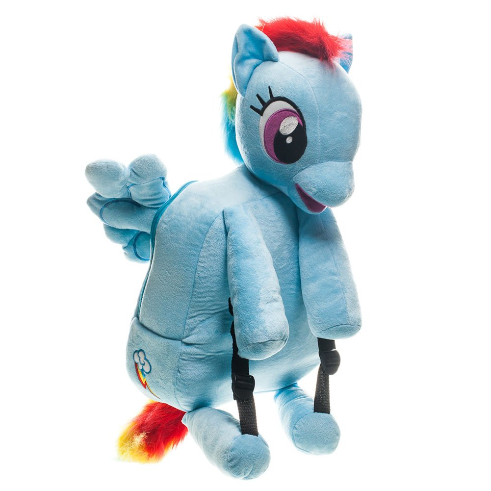 My Little Pony Girls' Dash Plush Backpack