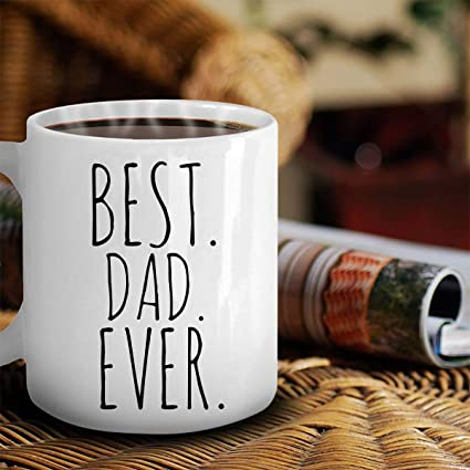 Amazon BEST DAD EVER Coffee Mug Fathers Day Gift For Dad