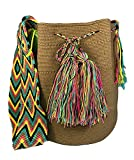 Mochila Wayuu REAL Ethnic Bag -Large- 100% Real Crochet Hand Woven in Colombia -Cotton- Unicolor