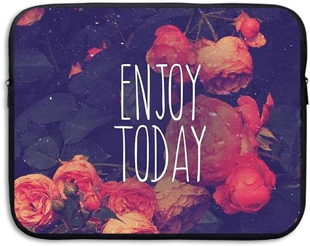 Enjoy Today Pattern 13 Inch Laptop Computer Sleeve Notebook Cover Case Soft Computer Pouch Laptop Protective Bag Pouch