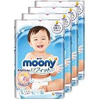 MamyPoko Moony Tape Diaper, L, 54 Count, (Pack of 4)