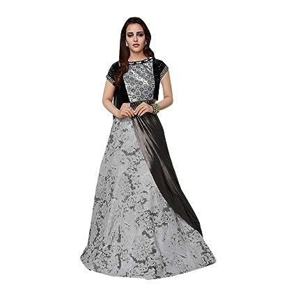 5de35f3d3b Amazon.com: Grey Stylish Lehenga Pattern Silk Wedding Party Ghagra Choli  Designer Net Dupatta Indian Muslim 7278: Home Improvement