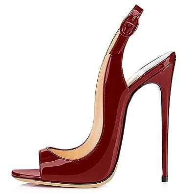 Chaussures à bout ouvert marron Fashion femme WVo9OAOPBB