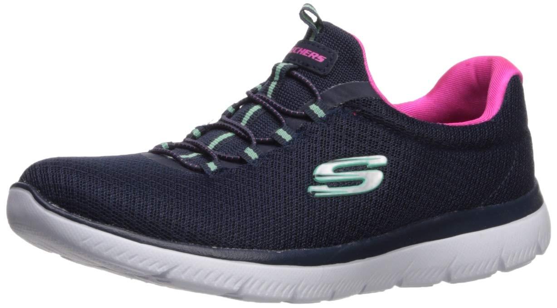 ویکالا · خرید  اصل اورجینال · خرید از آمازون · Skechers Women's Summits Sneaker, Navy/Pink, 8 M US wekala · ویکالا