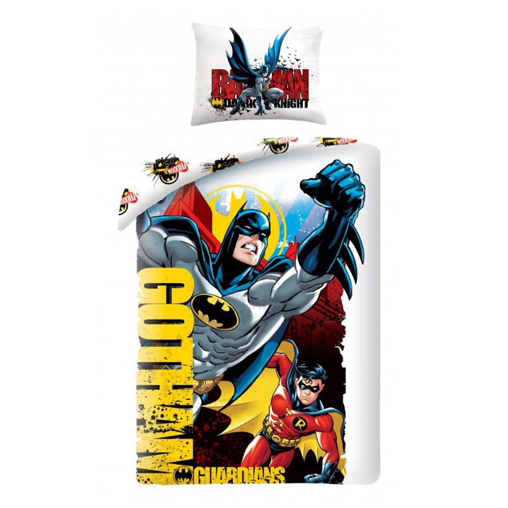 Batman and Robin Gotham Single Duvet Cover Set TDI Roman Kolodziejczyk