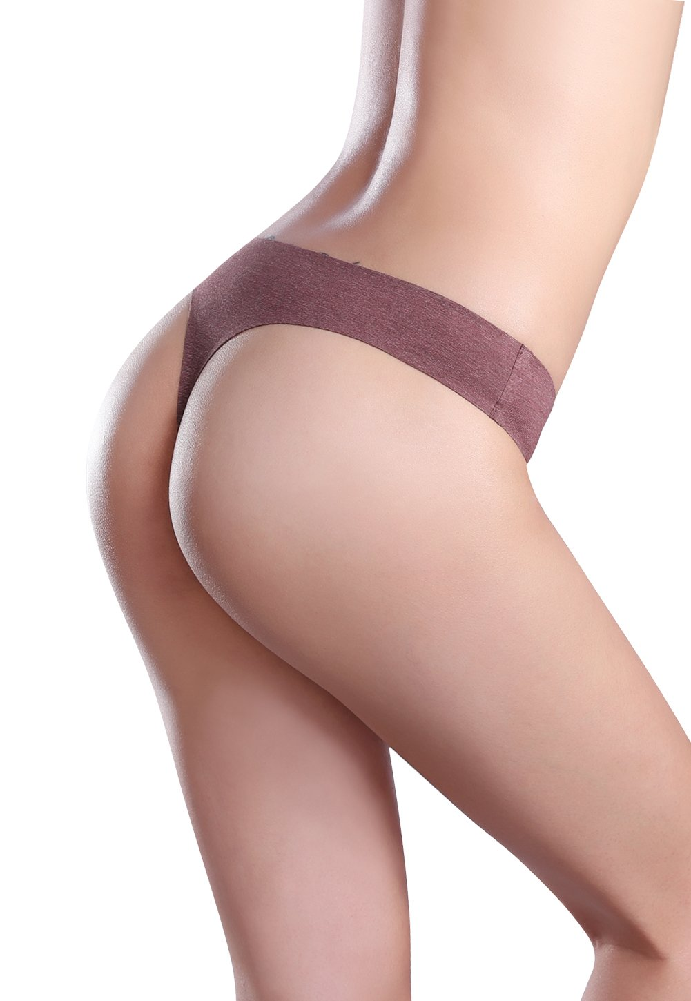 Wealurre Women's Cotton Thong Breathable Panties Low Rise Underwear (Medium, Blue Gold) by Wealurre (Image #6)
