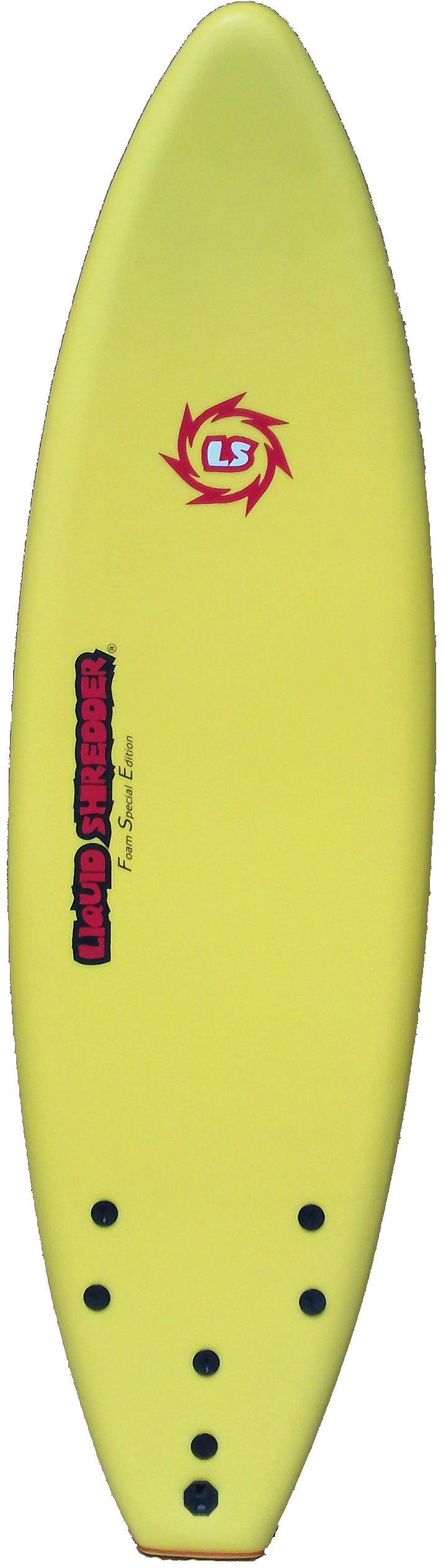 Liquid Shredder FSE EPS/PE Soft Surf Board (Yellow, 6-Feet) by Liquid Shredder