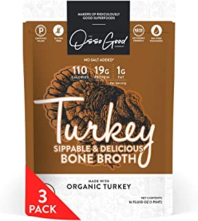 product image for Osso Good Turkey Bone Broth, 3 - 16 Ounce Pouches, High in Protein & Collagen, Ships Frozen