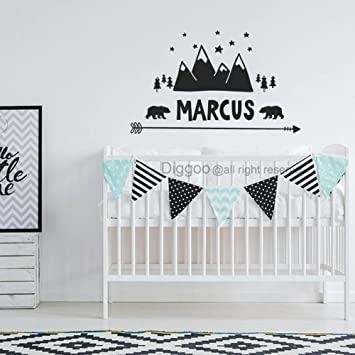 10 h x 15 w Plus Free Welcome Door Decal Personalized Name Wall Decal Deer Antlers Decal Bear Decal Arrow Vinyl Decal Rustic Nursery Decor