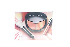 Bobbi Brown Keep Glowing Lip And Cheek Set - Illuminating Powder, Face Blender Brush High Shimmer Lip Gloss