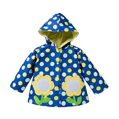 b8fad4cd036d Deylaying Children Girls Boys Raincoat Outwear Hooded Windbreaker ...