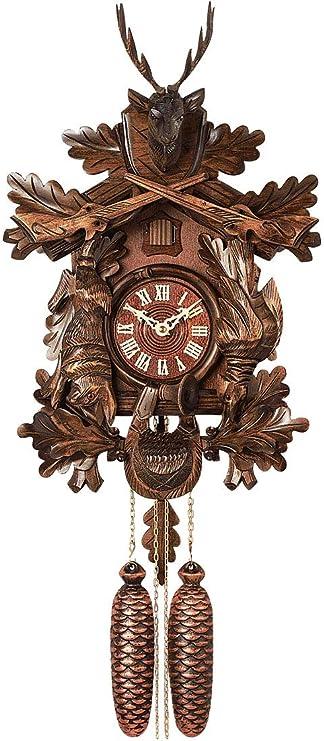 Selva Horloge A Coucou Style Foret Traditionnelle De Foret Noire Fabrique En Allemagne 7 Pieces Avec Mecanisme A Chainette Amazon Fr Cuisine Maison