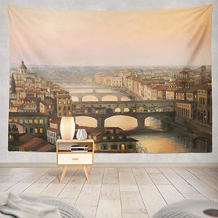 Amazon com: Deronge Landscape Painting Tapestry Wall Art