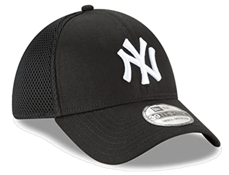 ilmainen toimitus sulavalinjainen suorituskykyiset urheiluvaatteet New Era Authentic New York Yankees Black Neo 39THIRTY Flex Hat (M/L)
