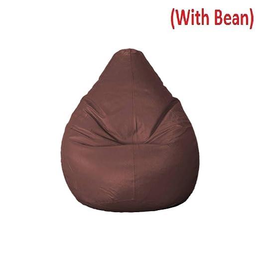 CADDYFULL XXXL Bean Bag Cover with Beans  Brown  Beans Quantity 2 kg Bean Bag Covers