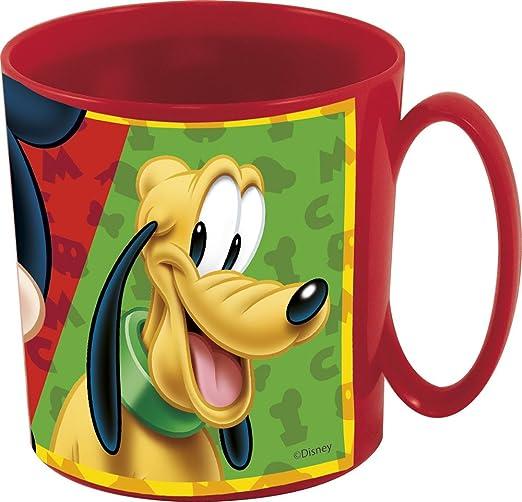 Mickey Mouse Taza plastico microondas 36 cl (STOR 56004), Rojo, 9x8x8 cm, 12 Unidades