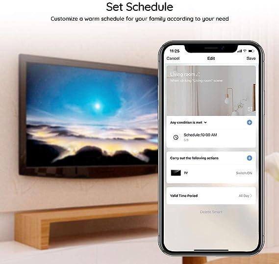 PAVLIT WiFi IR Control Remoto Compatible con Alexa y Google Home Temporización por Infrarrojos para Android e iOS: Amazon.es: Electrónica
