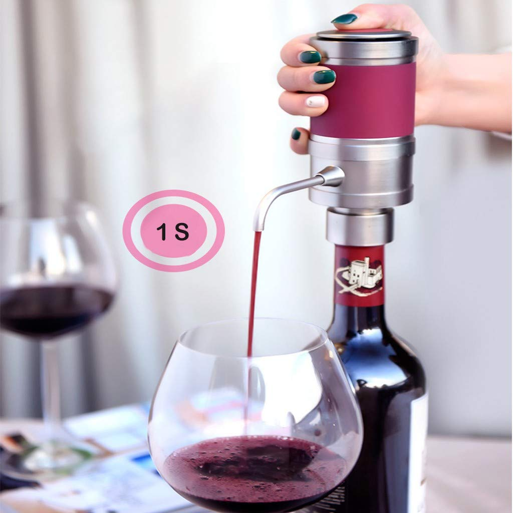 Sonmer Sorbo Portable Automatic Wine Fast Sober Up Decanter Separator (Silver) by Sonmer (Image #2)